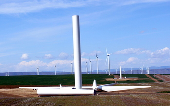 Wind power supplied more than 12 percent of Oregon's in-state electricity production in 2014, according to the American Wind Energy Association. (Tedder/Wikimedia Commons)