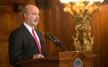 Gov. Tom Wolf has said he will veto the Republican budget proposal. (Gov. Tom Wolf/Flickr)