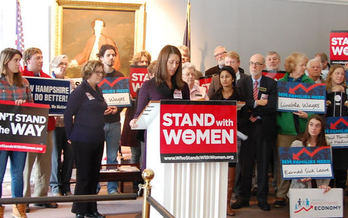 Supporters of an anti-discrimination measure to protect pregnant women in New Hampshire workplaces say they're optimistic that SB 488 will pass. (Granite State Progress)<br />