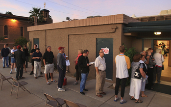 Some Phoenix-area voters waited up to five hours to vote in last week�s Arizona presidential primary elections after officials reduced the number of polling places by 70 percent. (iStockphoto)