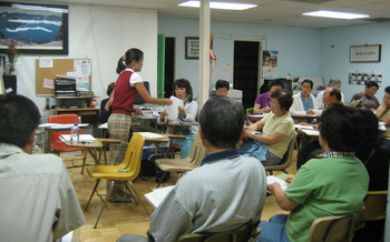 Improving English language skills can raise immigrants' earning potential as much as 24 percent. (Korean Resource Center/Flickr)