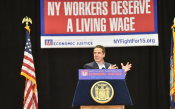 Gov. Cuomo's proposal would raise the minimum wage for all New Yorkers by mid 2021. (governorandrewcuomo/Flickr)