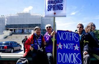 At least 2,000 people participated in the Democracy Spring sit-in in Washington, D.C., this week. (Democracy Spring/Facebook)