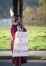The Confederated Tribes of Warm Springs of Oregon are supporting a measure to ban production of more than 1,000 gallons of bottled water per day in Hood River County. (Blue Ackerman)