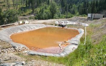 The Atlanta Gold arsenic removal pond has proven ineffective, according to conservation groups who have announced their intention to sue over discharges into the Boise River. (Idaho Conservation League)
