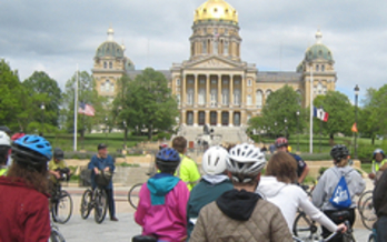 Cyclists celebrate Bike Month to promote fitness, safety and environmentally-friendly transportation. (DSMBikeCollective.org)