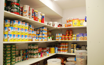 Food pantries pick up the slack when low income families can't qualify for federal help. (USDA)