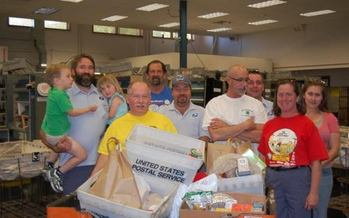 Local letter carriers will be scrambling on Saturday picking up nonperishable food donations for the nation's largest one-day annual food drive. (National Association of Letter Carriers)
