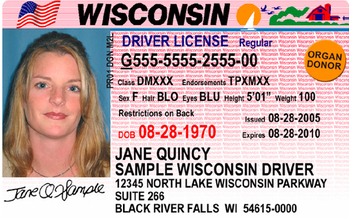 A driver's license is one form of acceptable voter photo ID in Wisconsin, but other documents also will suffice. Money has been requested by a state agency to educate voters about acceptable ID. (Wisconsin DOT)