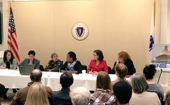 Women lawmakers are taking the lead on a bill pending at the State House that would ensure doctor-patient confidentiality when it comes to insurance companies' explanation of benefits. (Scholars Strategy Network)