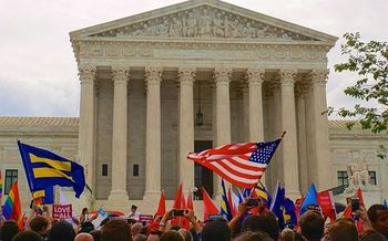The U.S. Supreme Court ruled for marriage equality, but LGBT activists maintain there still is work to do.  (Ted Eytan/Wikimedia Commons)
