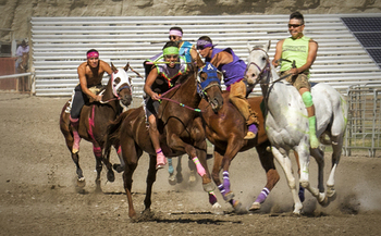 The first Indian Relay races of the season kicked off in Buffalo, Wyo., this past weekend. (Diana Volk)
