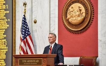Faced with a government shutdown, many in the GOP-controlled West Virginia House of Delegates, including Speaker Tim Armstead, reluctantly voted to raise tobacco taxes. (Perry Bennett/W. Va. Legislature)