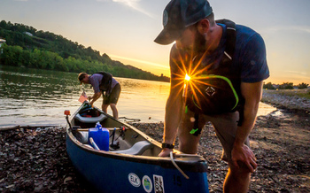 Adam Swisher and Matt Kearns traveled the length of the Elk River. They say protecting it will be good for West Virginia's future. (Chad Cordell)