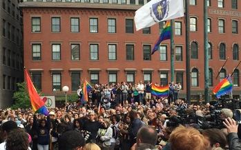 Human-rights activists who attended the Boston vigil for the Orlando shooting victims say it is wrong to single out Muslims. (Chris Flynn)