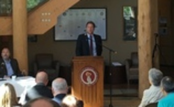Gov. Steve Bullock presents his Montana Energy Plan at the University of Montana in Missoula on Wednesday. (Office of the Governor)