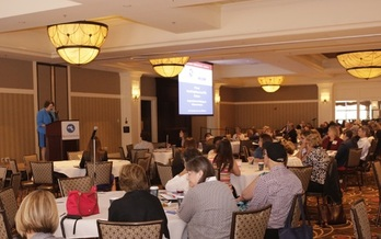 More than 300 people gathered in Norwood last week for an annual conference of the state's Family and Patient Advisory Councils. (HCFA)