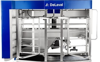 Robotic milking systems are leading to happier, healthier cows. (DeLaval.com)