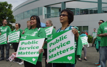 99 percent of state employees are paid below the market rate, according to a state survey. (Washington Federation of State Employees)
