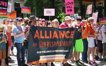A Washington ballot initiative that would allow judges to temporarily suspend access to firearms to people deemed a threat to themselves or others gained 330,000 signatures, supporters say. (Alliance for Gun Responsibility)