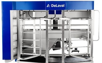 Dairy farmers who use them say robotic milking systems are leading to happier, healthier cows. (DeLaval.com)