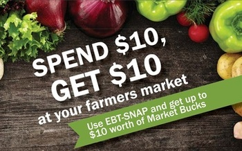More than 80 of Minnesota's farmers markets are helping Supplemental Nutrition Assistance Program dollars go further this summer. (Hunger Solutions Minnesota)