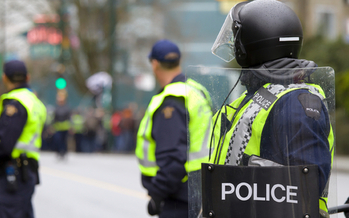 Thousands of officers from several states will be joining Cleveland police in patrolling the city during the Republican National Convention this week. Legal experts are reminding protesters of their rights and responsibilities. (iStockphoto)