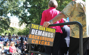 Gun violence prevention groups say background checks should be required for every firearm purchase. <br />(Elvert Barnes/Flickr)