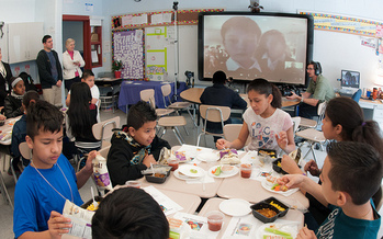 A bill being debated in Congress could reduce access to school lunch programs for more than 10,000 students in Maine. (USDA)
