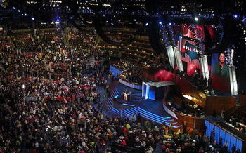 In 2008, superdelegates were 20 percent of all delegates to the DNC. (Qqqqqq at English Wikipedia)