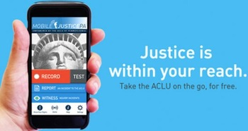 The Mobile Justice App records video directly to ACLU Servers. (ACLUPA)