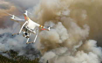The federal government announced a new alerting system to reduce the number of drones that interfere with firefighting planes. (Bureau of Land Management)