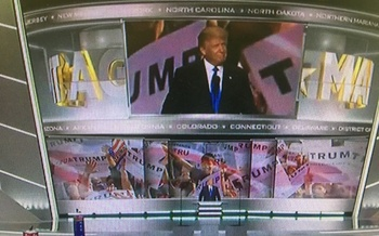 Donald Trump will officially accept the Republican party's presidential nomination on today. (Republican National Convention)