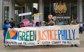 Protesters say the greatest crisis facing humanity is global climate change. (Green Justice Philly)