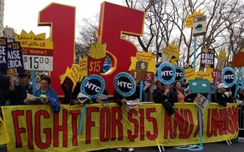 The �Fight for $15� movement has mobilized millions of low-wage workers. But how many will vote, and for whom, in November? (All-Nite Images/Flickr)
