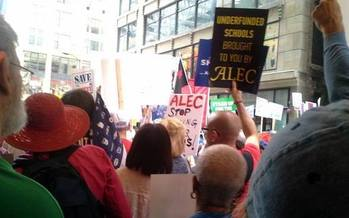 Teachers charge that Indiana schools are under threat by a powerful lobbying group. (Chicago Federation of Labor)