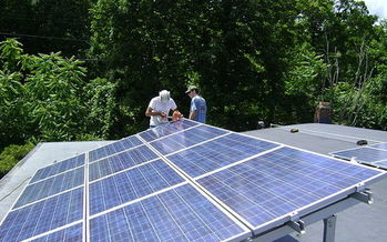 A new study shows rooftop solar is saving big bucks for Mainers with solar – and also saving money for their neighbors. (Lucas Braun)