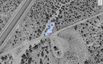 NASA studied 250 sites emitting methane in the Four Corners region, including taking satellite images. (NASA)