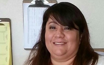 Roxana Giron, a low-wage, home-health worker from Nevada, is attending the national