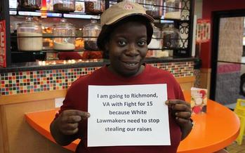 More than 100 Illinois fast-food workers are in Virginia for the first-ever nationwide