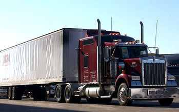 New rules mean the big rigs that share the roads in Maine will soon be spewing fewer harmful emissions. (Macias/U.S. Air Force).
