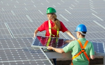 A new study says many employees from the coal industry who have lost jobs can be retrained to work in renewable energy. (Moms Clean Air Force)