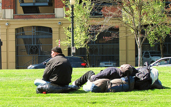 A study of Portland's homeless population says individuals who found stable housing saw their need for emergency care drop 18 percent. (Mike Krzeszak/Flickr)