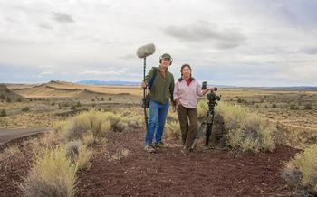 This weekend, Richard Wilhelm and Sue Arbuthnot were at Diamond Craters, southeast of Burns, filming for their documentary about the issues raised in the Malheur National Wildlife Refuge armed occupation. (Hare in the Gate Productions)