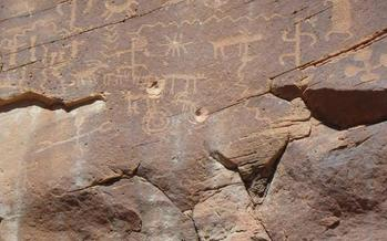Petroglyphs at Gold Butte have been damaged by bullet holes. Advocates are asking President Obama to create a new national monument. (Christian Gerlach/Sierra Club)