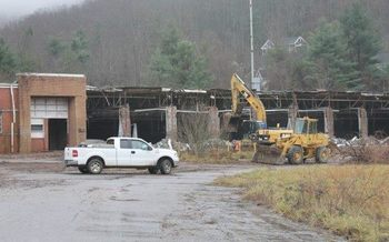 The CTS building was torn down in 2012, but chemical cleanup remains incomplete. (POWER Action Group)