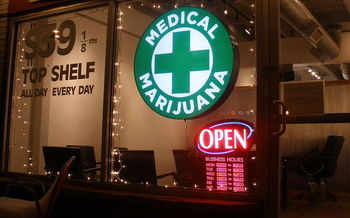 If a constitutional amendment is approved by Arkansas voters in November, medical marijuana dispensaries, like this one in Colorado, could soon open. (Wikimedia Commons)