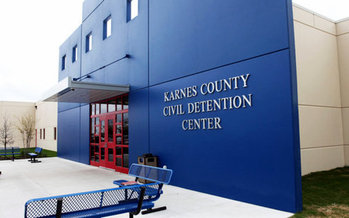 The Karnes County Immigration Detention Center in South Texas is one of dozens around the country operated by private, for-profit corporations. (DHS photo)