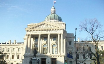 Indiana's statehouse is the site of a march and rally today as part of Moral Day of Action