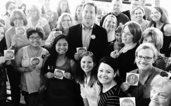 Gov. Steve Bullock's Equal Pay for Equal Work Task Force offers stickers to businesses to display when they pledge to close the gender pay gap. (Equal Pay for Equal Work Task Force)